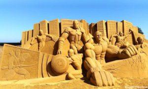 homokszobrászat - erő