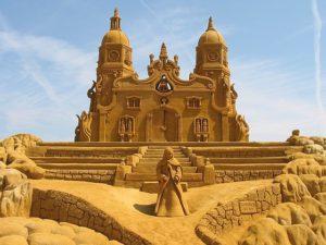 homokszobrászat - kastély